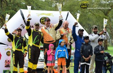 2018 Safari Rally Awards Top Three winners