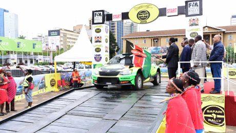 2018 Safari Rally Flag Off